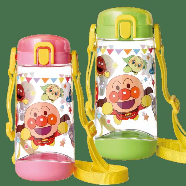 クリア水筒ボトル(直飲み)ピンク・グリーン
