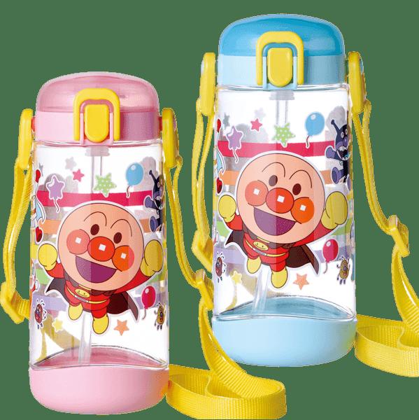 クリア水筒ボトル(ストロー)ピンク・ブルー