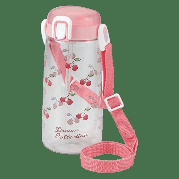 クリア水筒ボトル(直飲み)ピンク