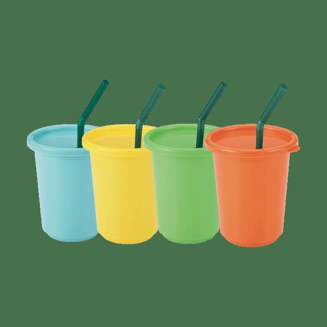 カラフルストローカップ(4個入り)