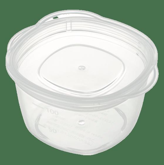 離乳食クリア保存容器(丸)M